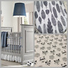 Cot crib Stokke Sleepi, Boori cot cotton fitted sheet white & grey feathers fox