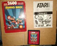 MARIO BROS ! PAL ! FOR ATARI 2600 + 7800 ! BOXED WITH MANUAL + CASE ! TESTED !