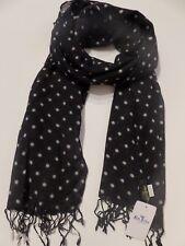 Glen Prince ladies wool scarf black cream spotted spotty NEW womens fashion dots