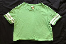 Missimo Supply Co Girls Top Green Juniors Sz Small S White Stripes