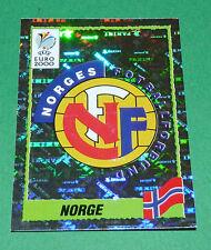 N°233 BADGE ECUSSON WAPPEN NORGE NORVEGE PANINI FOOTBALL UEFA EURO 2000