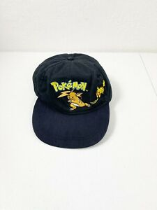 Vintage 2000 Pokémon Pikachu Raichu Embroidered Strap Back Hat Youth Adjustable
