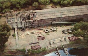 Postcard Ark Building Diorama Mariners Museum Newport News Virginia