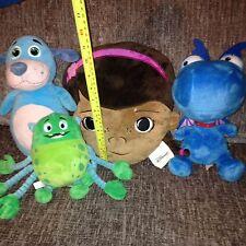 Doc McStuffin Soft Toy Bundle - Glo-Bo, Stuffy, Boppy & Doc McStuffin Cushion