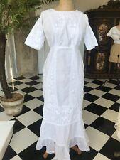Edwardian embroidery cotton lawn dress