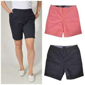 Ex TOMMY HILFIGER Curve Navy Spot or Pink Stretch Chino Shorts Plus Size