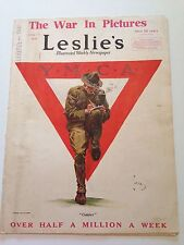 "YMCA - LESLIE'S MAGAZINE JUNE 1ST 1918  ""COMFORT"""