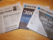 USA TODAY NEWSPAPER 3(qty) LOT TUE  4/7/20, MON 12/14/20 MON, 2/22/21