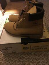 John Deere Work Boots Size 8 Brown/Tan/Beige