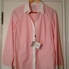 NWT Brooks Brothers Non Iron Pink Striped Shirt