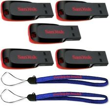 5 Pack SanDisk 32GB Cruzer Blade Flash Drive Thumb/Pen/Jump/USB Stick SDCZ50-032