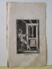 Vintage Print,MECHANICAL POWER,Mechanical Arts,1827,Watts,Occupations