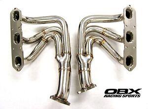 OBX Long Tube Header Fits 99 00 01 02 03 04 Porsche 996 Carrera 911 3.4L 3.6L