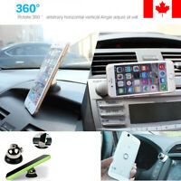 Magnetic Car Cell Phone Holder Mount Dash 360° Rotates for iPhone, Samsung, etc