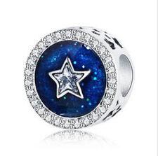 1pcs Silver European Charm Crystal Spacer Beads Fit Necklace Bracelet DIY ! ! !