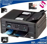IMPRESORA MULTIFUNCION COLOR BROTHER J480DW FAX WIFI DUPLEX TINTAS X MENOS DE 3€