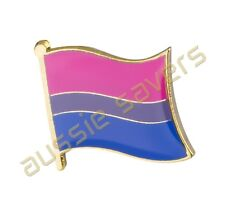 BISEXUAL FLAG HAT PIN /LAPEL BADGE / BROOCH- BRAND NEW