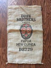 Burlap DUNN BROS Coffee Bean Bag Gunny Sacks Papa New Guinea