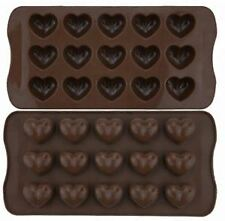 love Heart Shaped Tray Chocolate Ice Jelly Silicone Mould shiped, UK seller