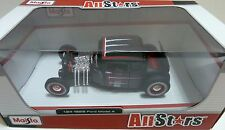 -1929 FORD MODEL A RAT ROD FLAT BLACK CUSTOM 1/24  DIECAST CAR-MAISTO