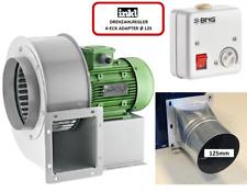Radialgebläse Radialventilator Lüfter 1950m³h+ 5A Drehzahlregler + 4 eck Flansch