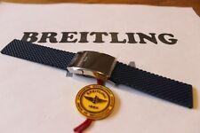 100% Authentique Breitling Bleu Aero en Caoutchouc Classique Déploiement Bracelet 22-20 mm & Fermoir