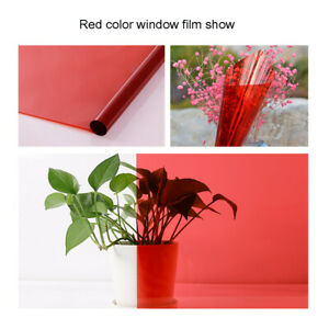 Transparent Window Film Color Solar Tint Self adhesive Stained Glass Decor Vinyl