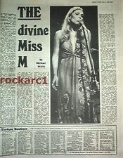 JONI MITCHELL the divine miss M 1974  UK ARTICLE / clipping