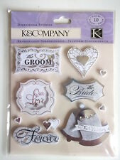 K&CO DIMENSIONAL STICKERS - WEDDING SENTIMENTS