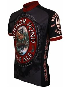 DESCHUTES BREWERY MIRROR POND PALE ALE MEN'S LARGE CYCLE JERSEY BY WORLD JERSEYS