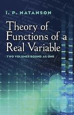 THEORY OF FUNCTIONS OF A REAL VARIABLE - NATANSON, I. P./ BORON, LEO F. (TRN) -
