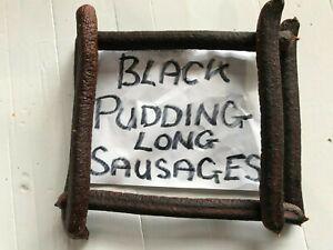 Black Pudding Long Sausages Dog Treat/Reward/Chew. A BRITISH PRODUCT.-6-18-36-50