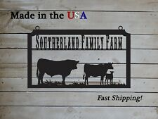 Personalized S1279 Oval Farm Sign with Cows Large Entrance//Gate
