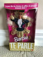 NRFB NEW IN BOX FRENCH TALKING 12372 TE PARLE BARBIE