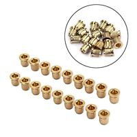 18Pcs Gold Cup Style String Ferrules For Fender Telecaster Tele Guitar Parts