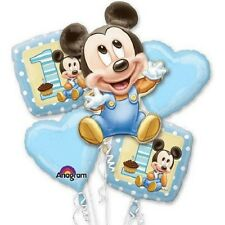 Disney Mickey Mouse 1st Birthday Mylar Balloon Bouquet ~Party Favor Supply~