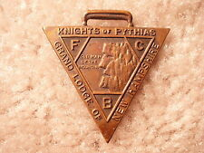 Knights Of Pythias New Hampshire Grand Lodge Watch Fob