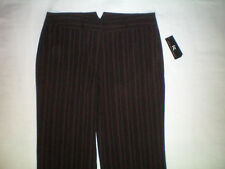 NEW NWT womens brown pinstriped IZ dress pants size 12/13  X 31 modern fit