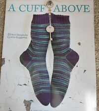 Leisure Arts A CUFF ABOVE knitted sock pattern book knitting patterns ON SALE