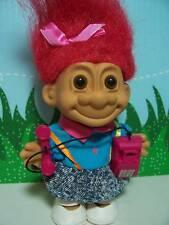 "GIRL w/OLD FASHIONED TELEPHONE - 5"" Russ Troll Doll - NEW - Red Hair"