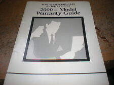 2000 FORD MUSTANG EXPEDITION EXPLORER F150 F250 WARRANTY OWNERS MANUAL SUPPLEM