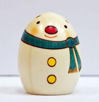 Usaburo Kokeshi Japanese Wooden Doll 132-3 Yuki Daruma (Snowman)