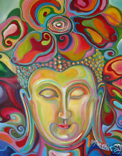 BUDDHA PAINTING - TRANQUIL AND HAPPY FINE ART PRINT