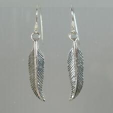 Ohrringe 925 Silber filigrane Federn Vogelfedern