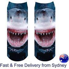 Shark socks marine animal novelty Scary Great white sea ocean jaws sharks sock
