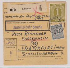 All.Bes./Gemeinsch.Ausg. Mi.937,920, Paketkarte Scheinfeld, 9.8.46