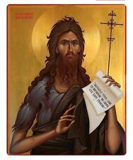 Saint John the Baptist Hand Painted Orthodox Byzantine Icon