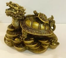 1 pc of Small Dragon Turtle Resin Statue in Ancient Brontz Color