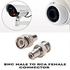 CCTV Camera BNC Male To RCA Phono Female Connector Adapter Video Cable DVR/AV UK