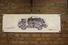 PORSCHE 911 Carera PVC grande lavoro Negozio Banner Garage CAR SHOW Banner